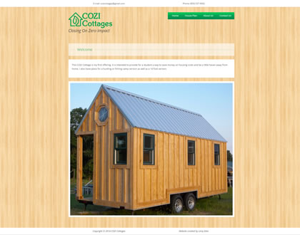 COZI Cottages Small Business Website Design Example